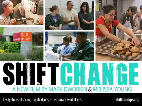 Free Bike-in Movie: Shift Change - Putting Democracy to Work on Aug.17th
